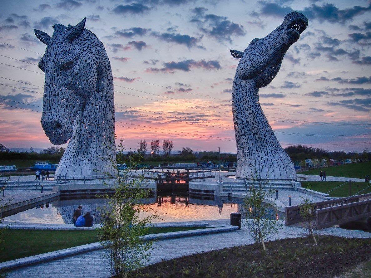 Kelpies in Falkirk