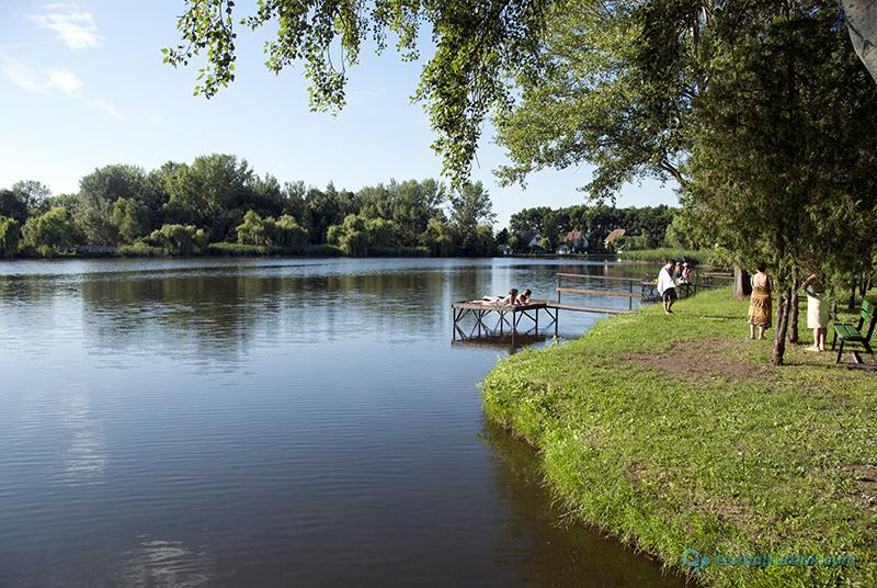 Polgári Strandfürdő csónakázó tó