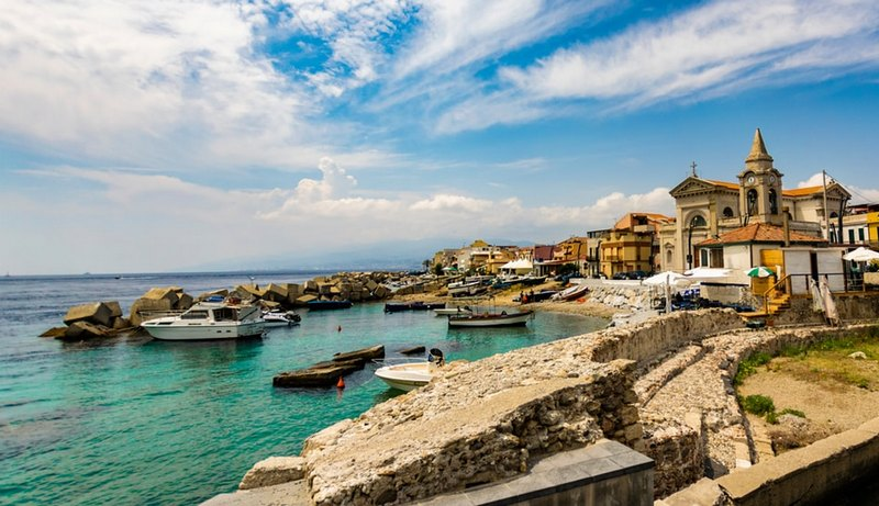 Szicilia Messina strand