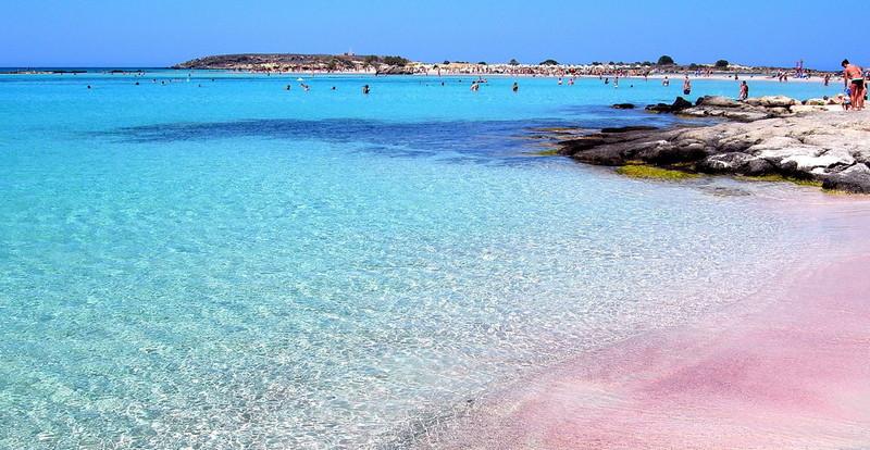 kréta Elafonisi strand