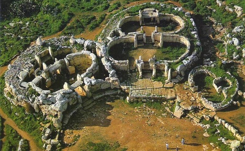 málta templomrom Ggantija-temple