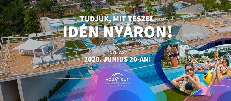 Aquaticum Debrecen-Strand-nyitás
