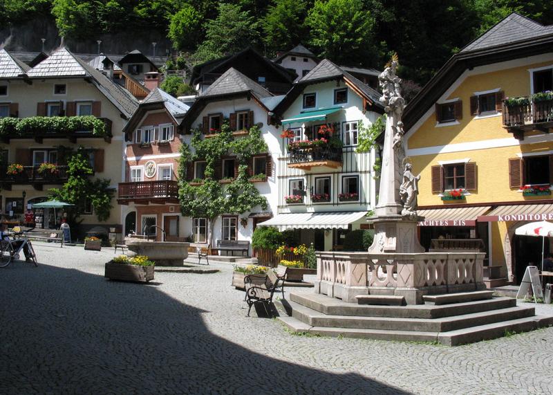 Hallstatt főtér Marktplatz