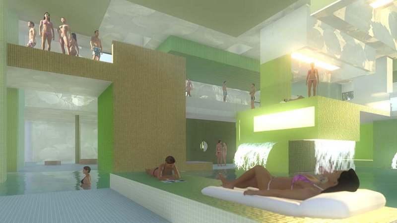 szolnoki tiszaligeti fürdő látványterv