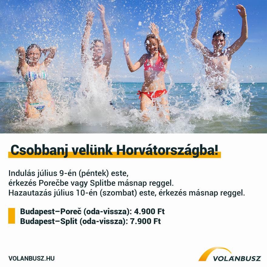csobbanójárat horvát tengerpartra