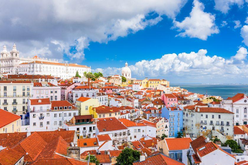 Lisabon in Portugal in Februar