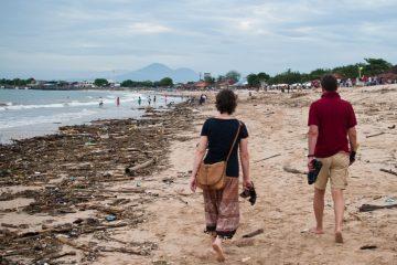 tengerpart szemét-környezetszennyezés