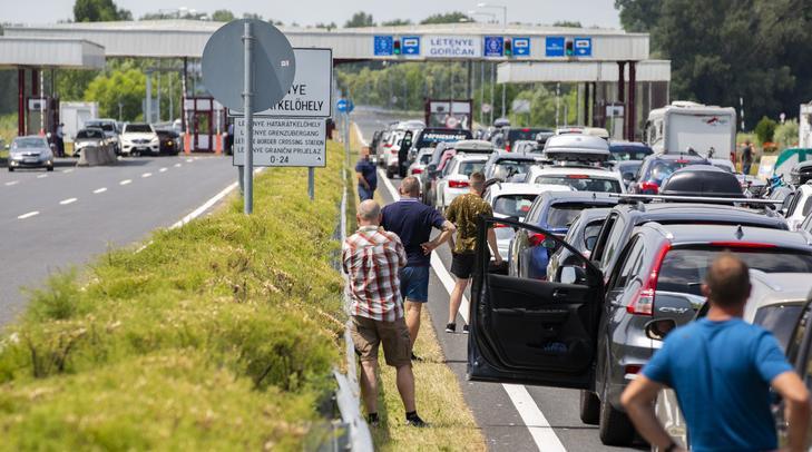 magyar-horvát határ letenye M7 autópálya dugó